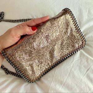 STELLA MCCARTNEY Falabella Crackle Metallic Bag